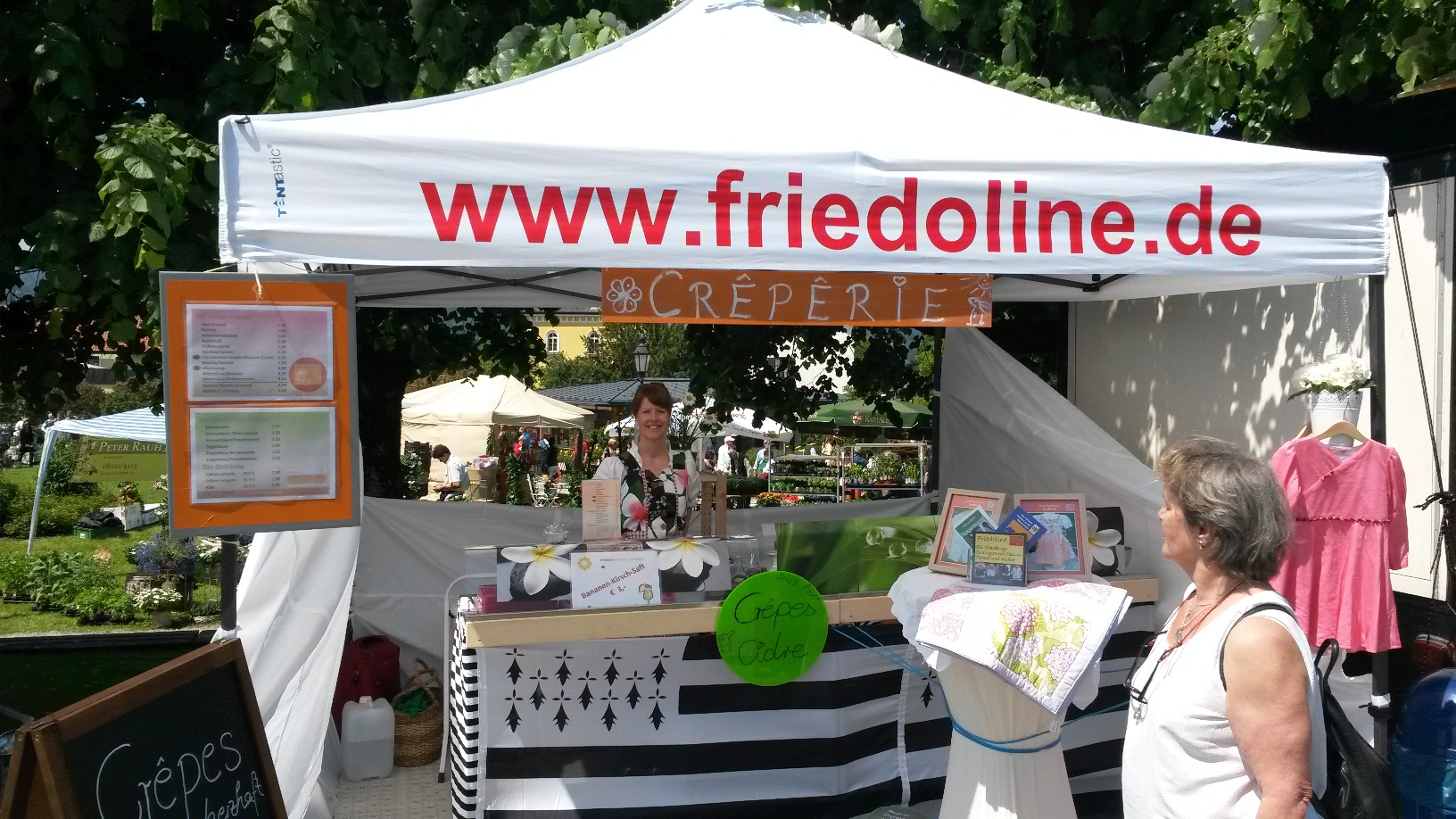 Friedoline-Stand Mai 2014 in Tegernsee